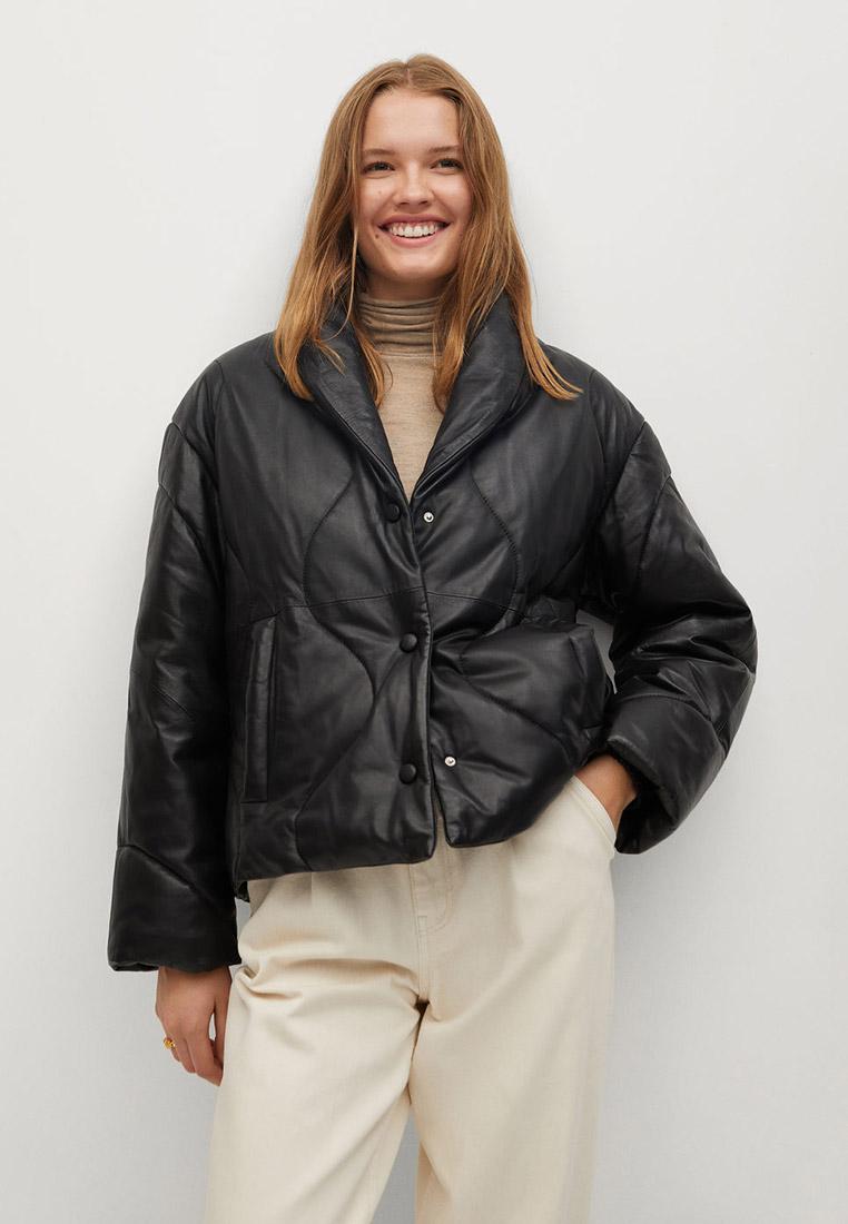 Кожаная куртка Mango (Манго) 77076304