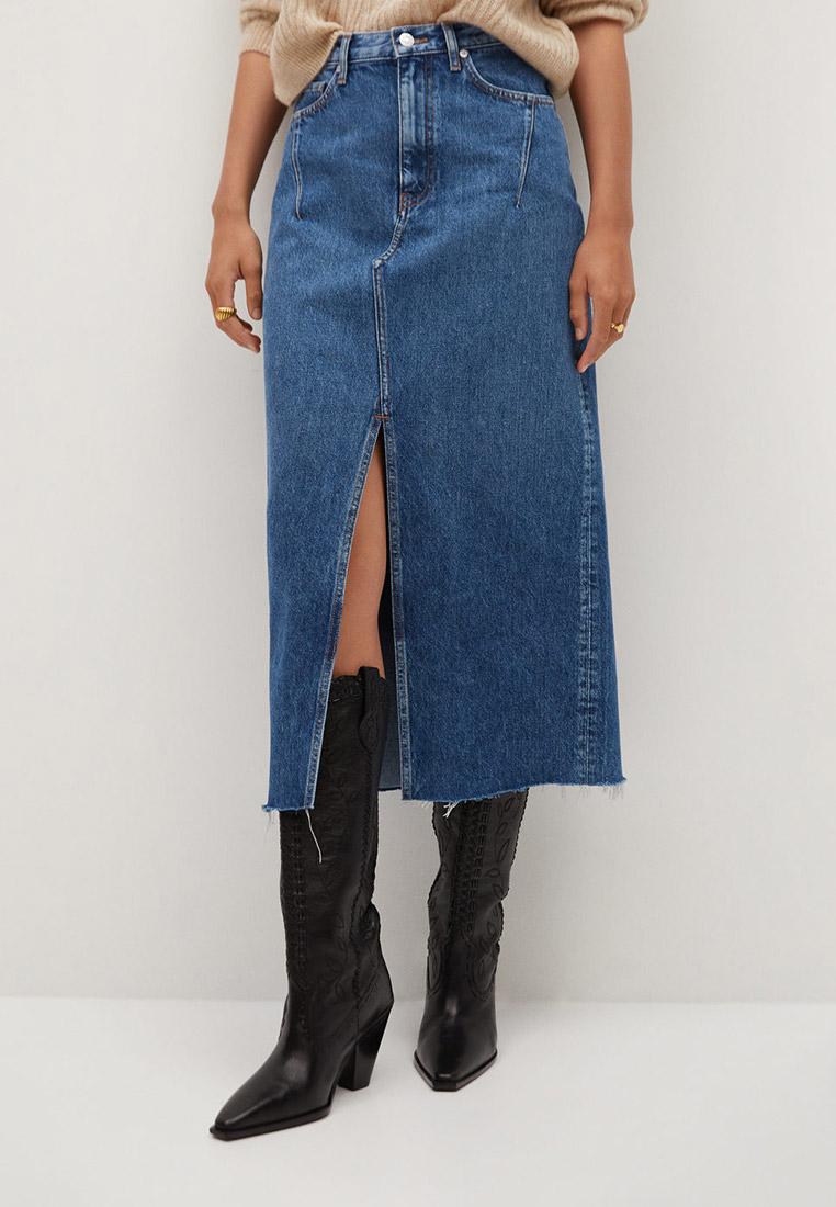 Джинсовая юбка Mango (Манго) 77086715