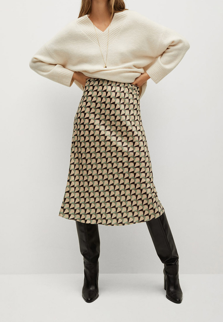 Широкая юбка Mango (Манго) 77057637