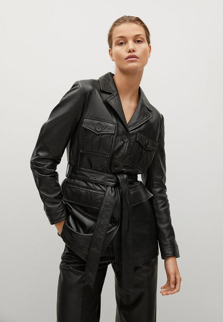 Кожаная куртка Mango (Манго) 77074396