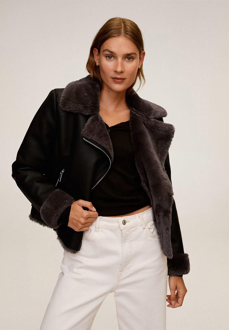 Кожаная куртка Mango (Манго) 87090562