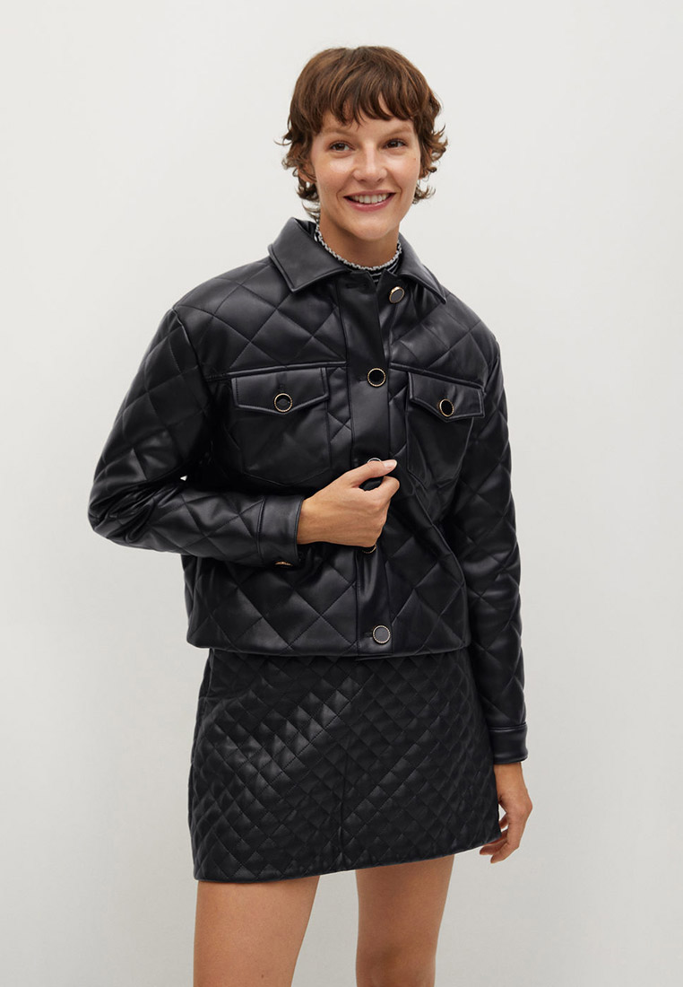 Кожаная куртка Mango (Манго) 87060536