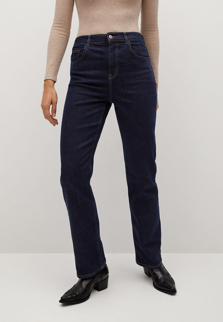 Прямые джинсы Mango (Манго) Джинсы с завышенной талией Wideleg - Nito-i