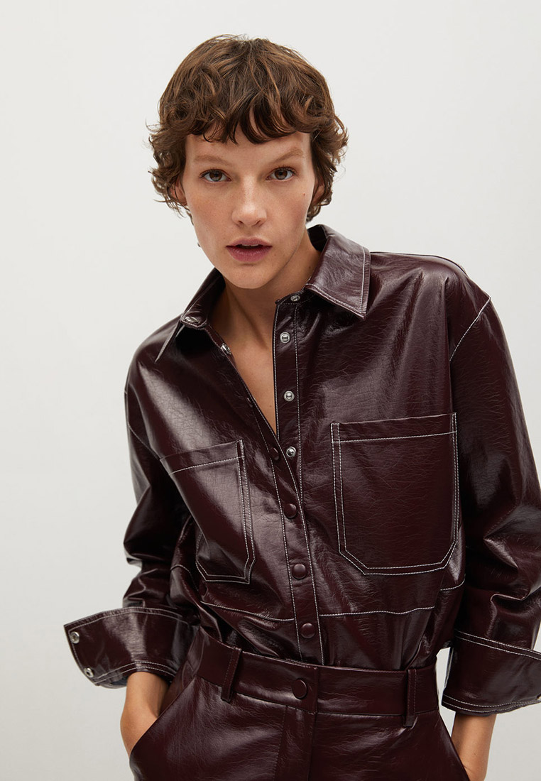 Женские рубашки с длинным рукавом Mango (Манго) 87060530