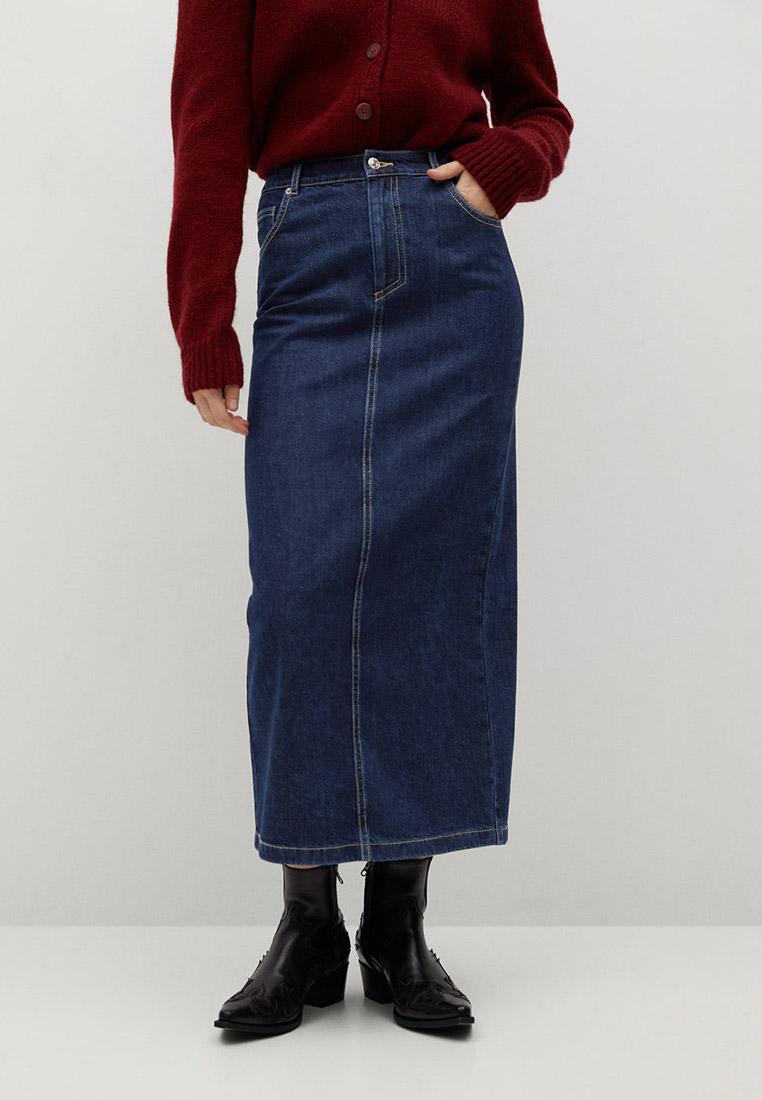 Джинсовая юбка Mango (Манго) 87082517