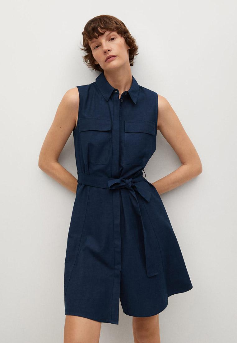 Платье Mango (Манго) Платье-рубашка с ремешком - Louisac-h