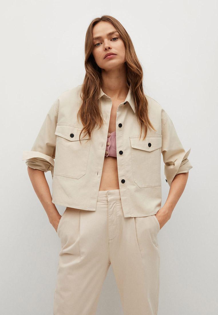 Женские рубашки с длинным рукавом Mango (Манго) 87055665
