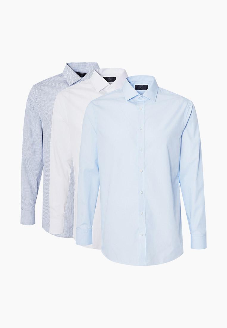 Рубашка с длинным рукавом Marks & Spencer Рубашки 3 шт. Marks & Spencer