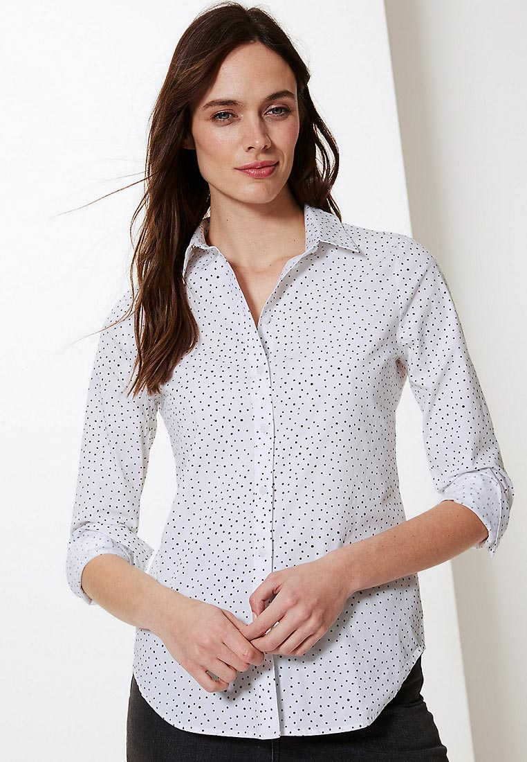 Женские рубашки с длинным рукавом Marks & Spencer T433278Z4