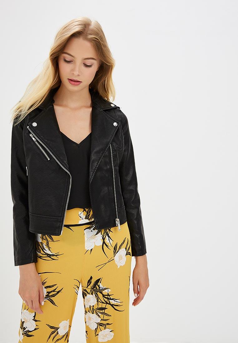 Кожаная куртка Miss Selfridge 34O27VBLK