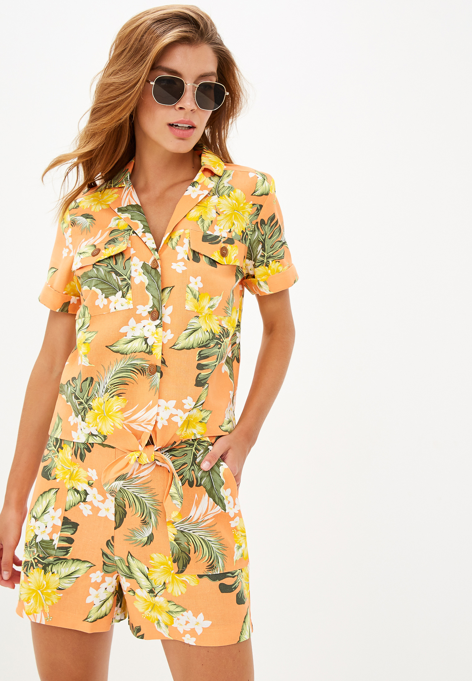 Рубашка с коротким рукавом Miss Selfridge 15L18XORG