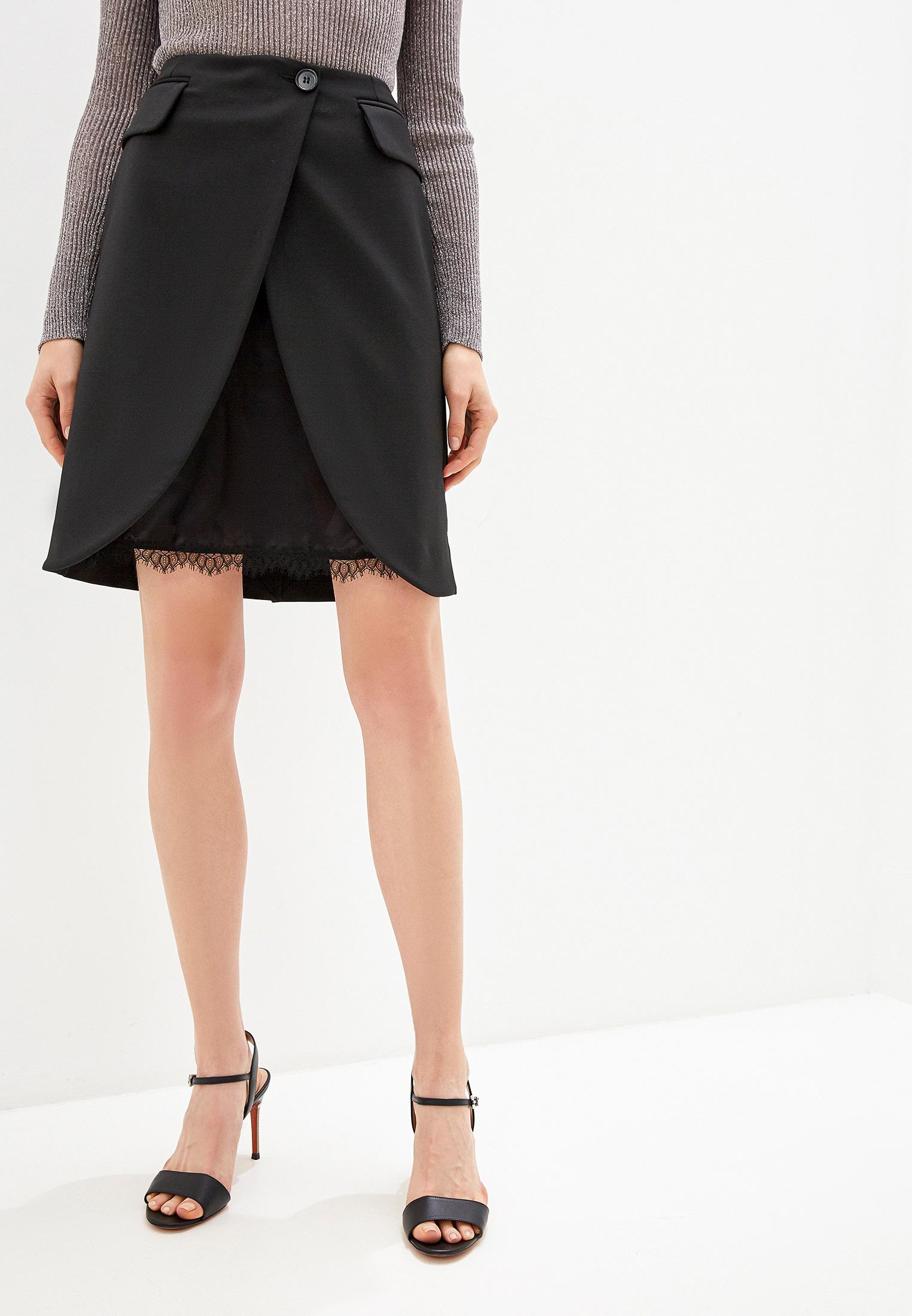 Прямая юбка MM6 Maison Margiela S32MA0307