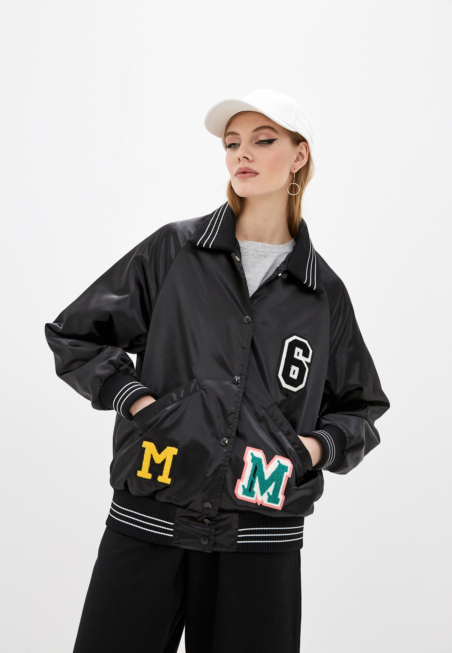 Утепленная куртка MM6 Maison Margiela S52AM0136