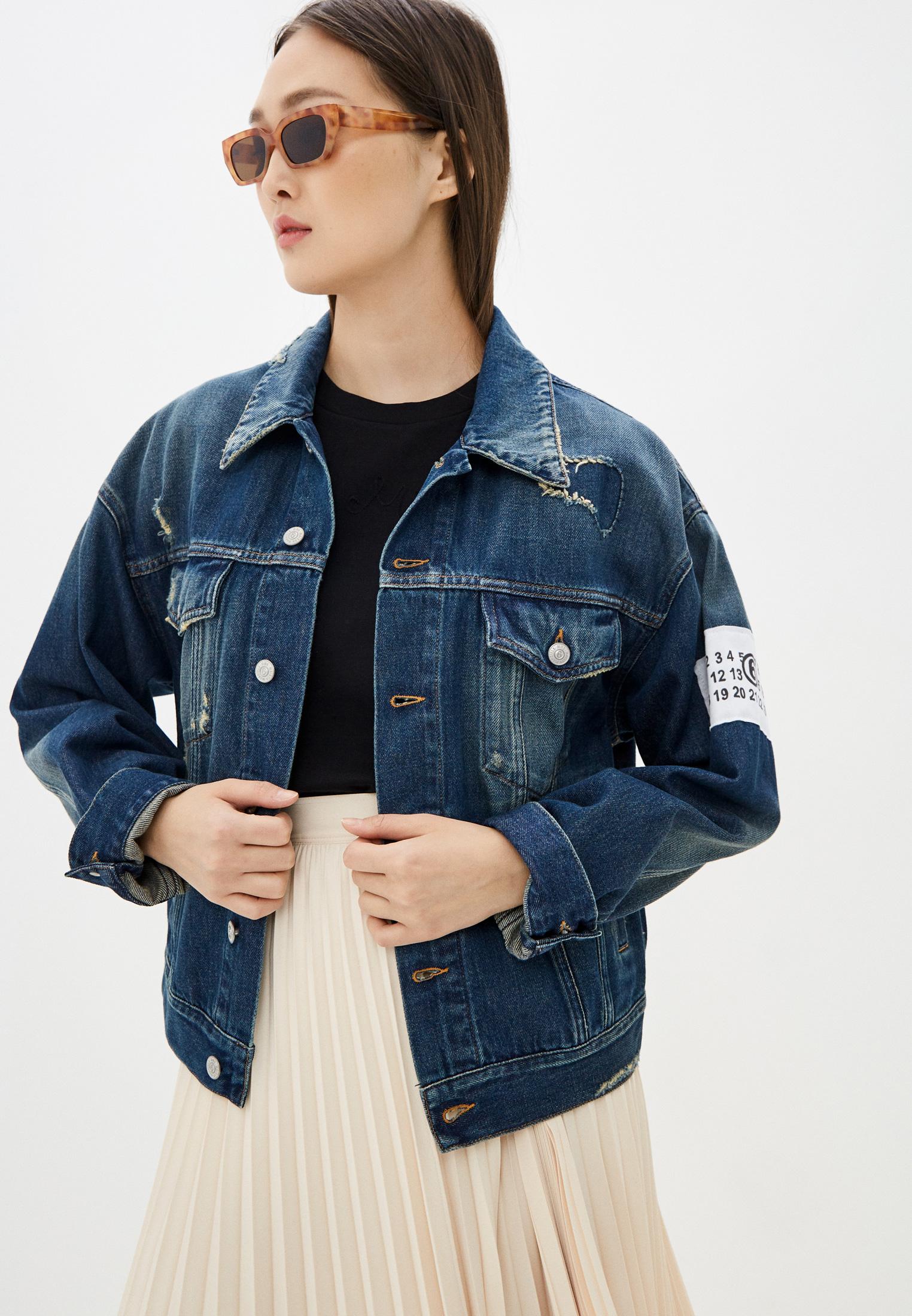 Джинсовая куртка MM6 Maison Margiela S62AN0035