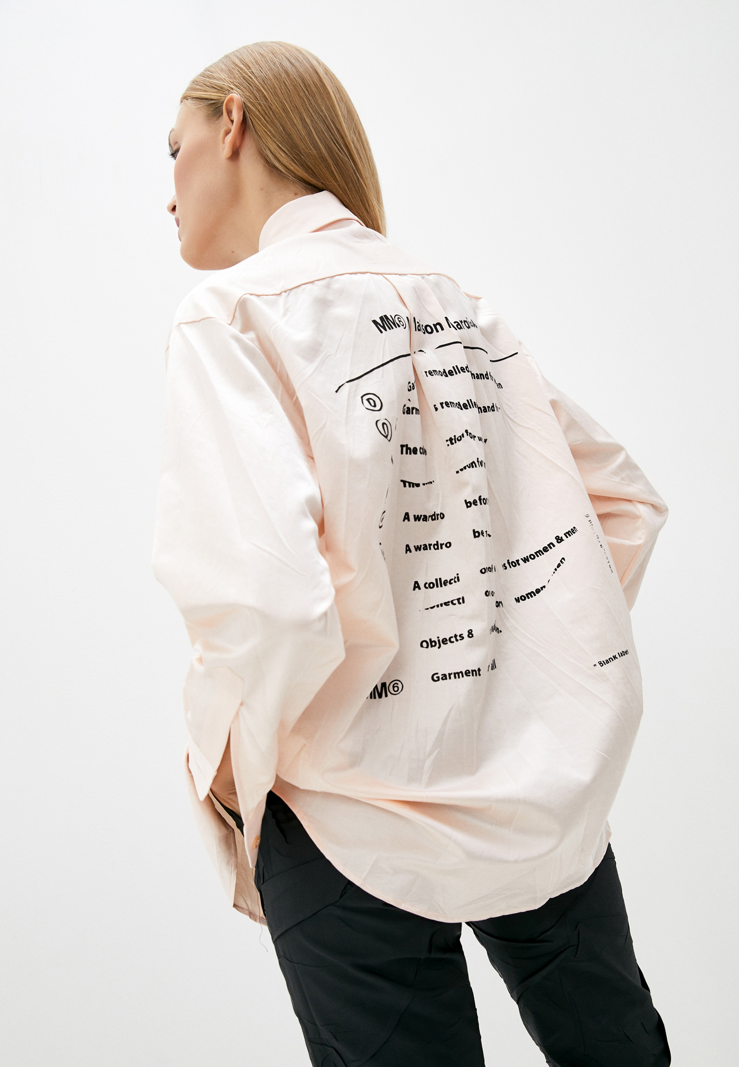 Женские рубашки с длинным рукавом MM6 Maison Margiela s32dl0267s53257