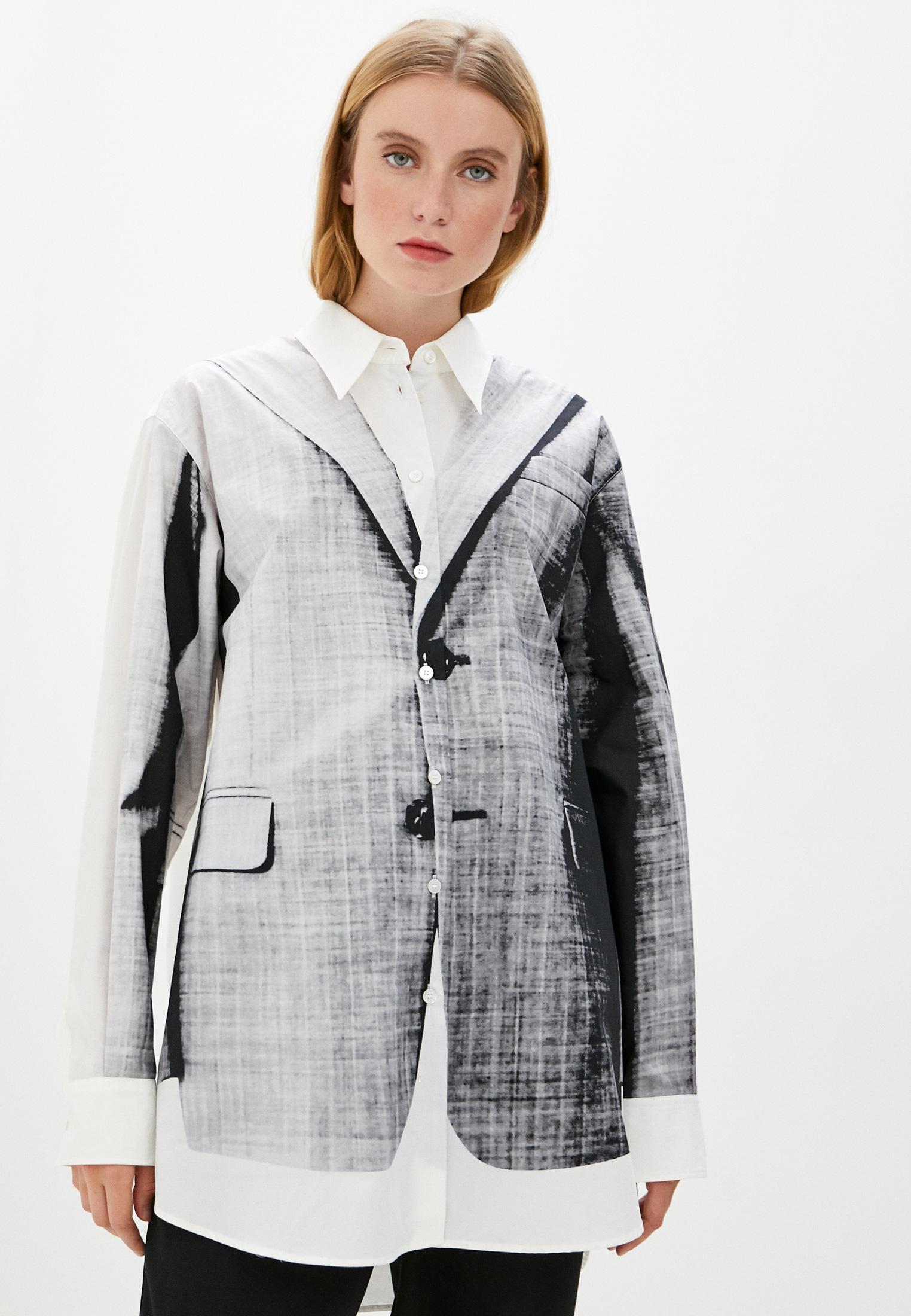 Женские рубашки с длинным рукавом MM6 Maison Margiela s52dl0137s53114