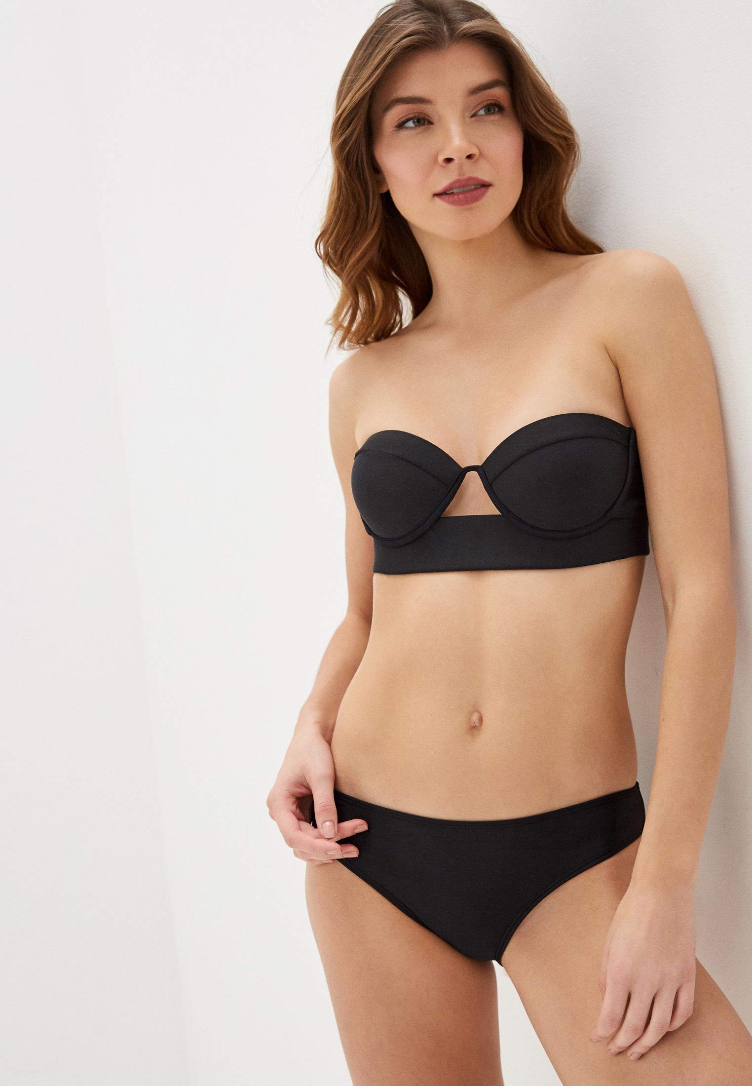 Donna Desigual Swimwear Bandeau Rem Woman Desigual Blue Bikini Top