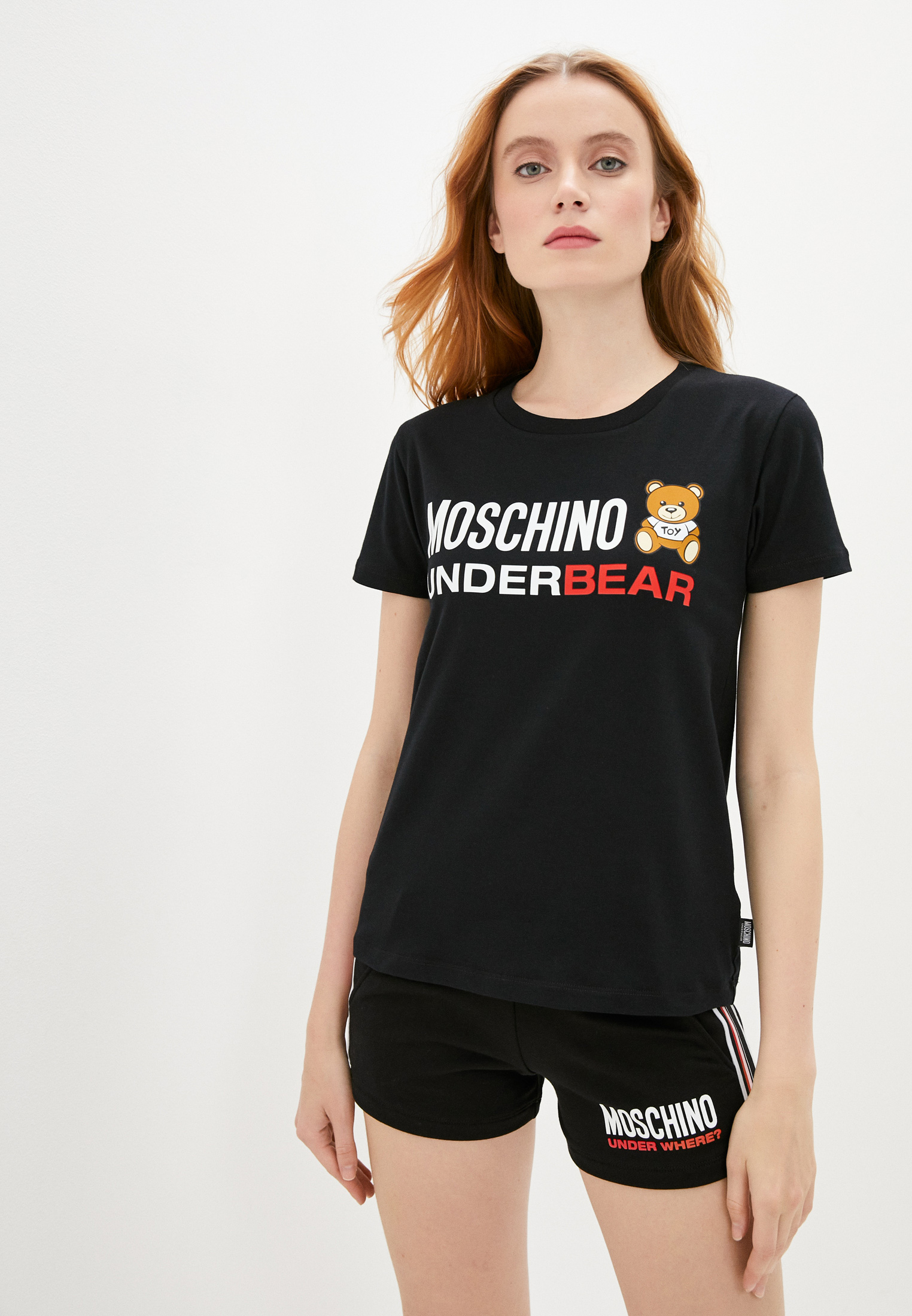 Футболка с коротким рукавом Moschino Underwear A19049003