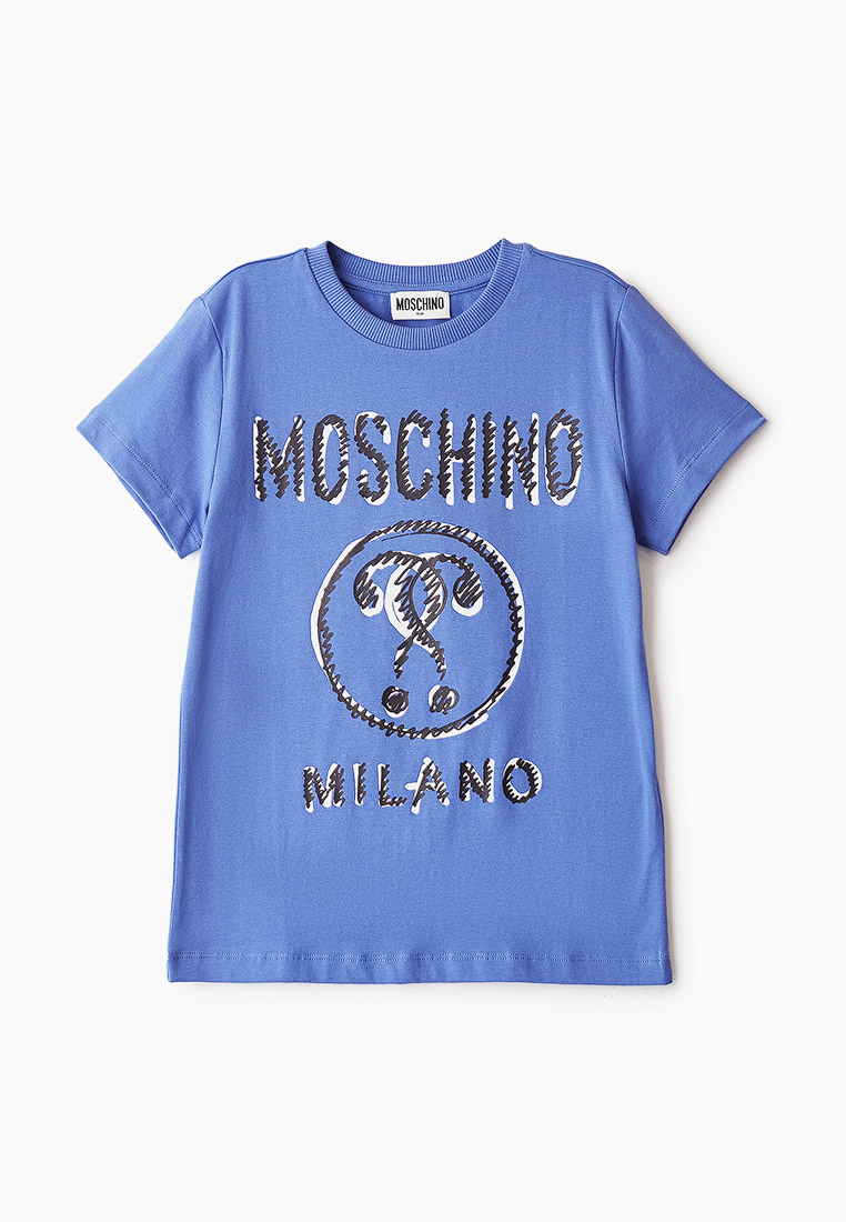 Футболка с коротким рукавом Moschino Kids HYM024LBA11