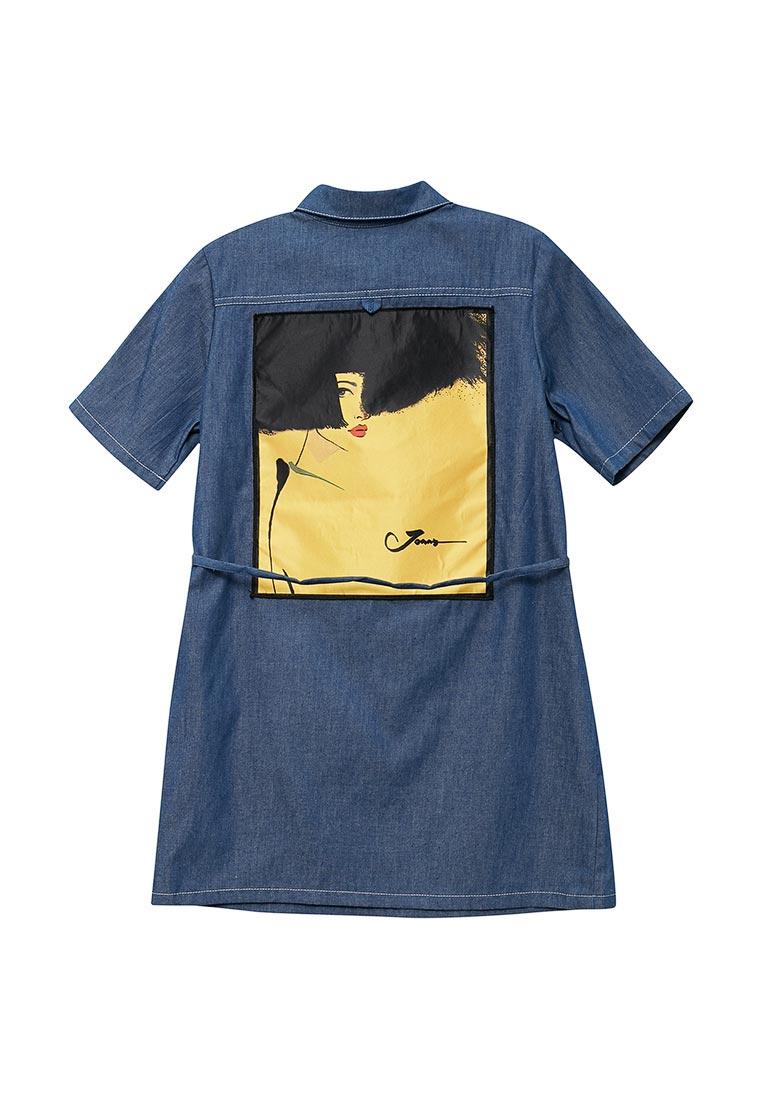 Повседневное платье Shened SH17320голубой/желтый-128-134: изображение 2