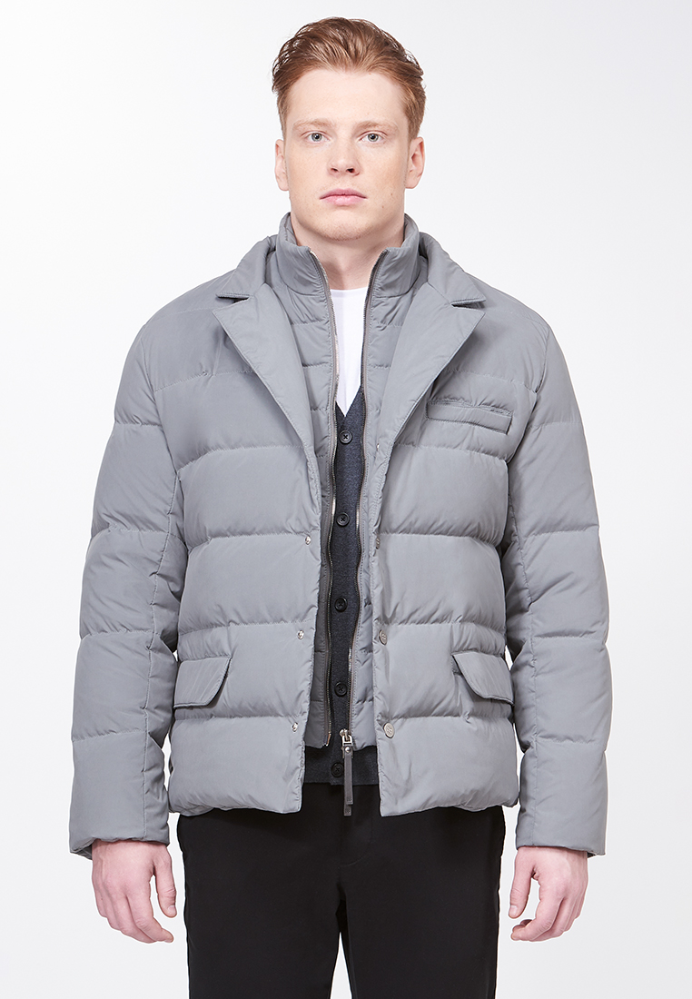 Утепленная куртка 88 Piuma E Piumaggio ROM020LGR_GRAY_M: изображение 1