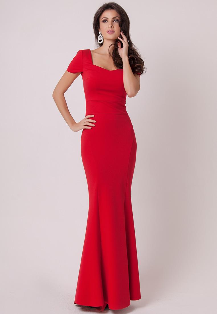 выкажу длинные красные вечерние платья в картинках завершению