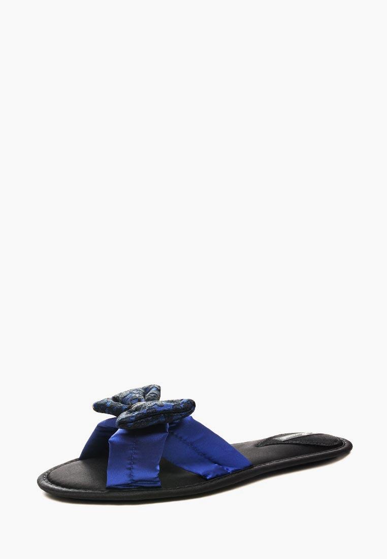 Женская домашняя обувь Petit Pas BAP003_синие бантики_36
