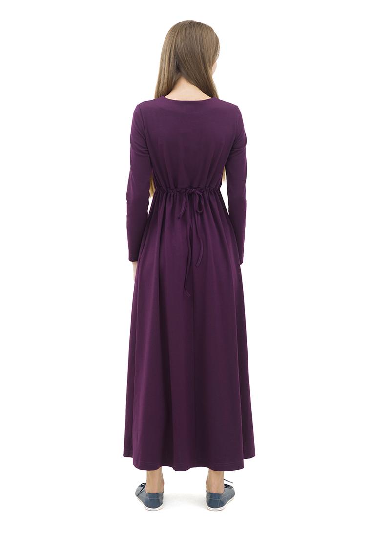 Платье-макси DOCTOR E DPT-80-сливовый-40