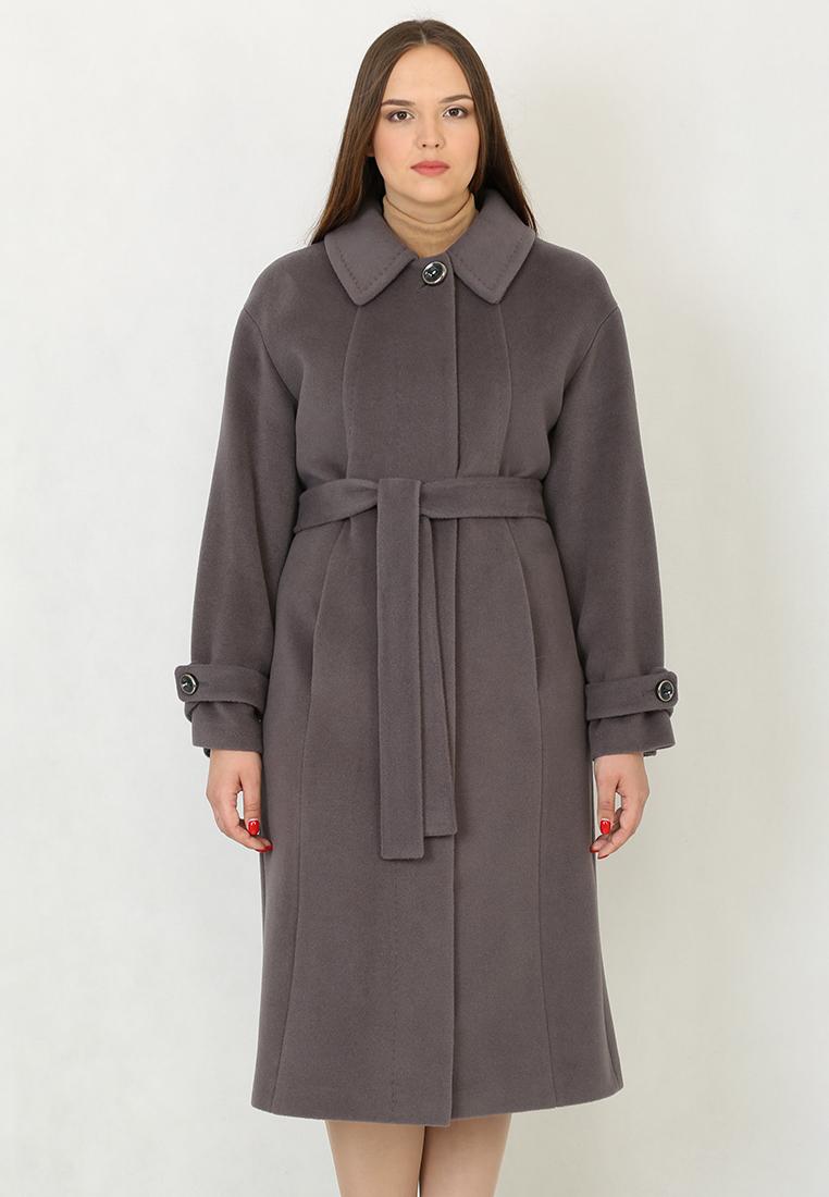 Женские пальто Trifo 7259-Темно-серый-48/164