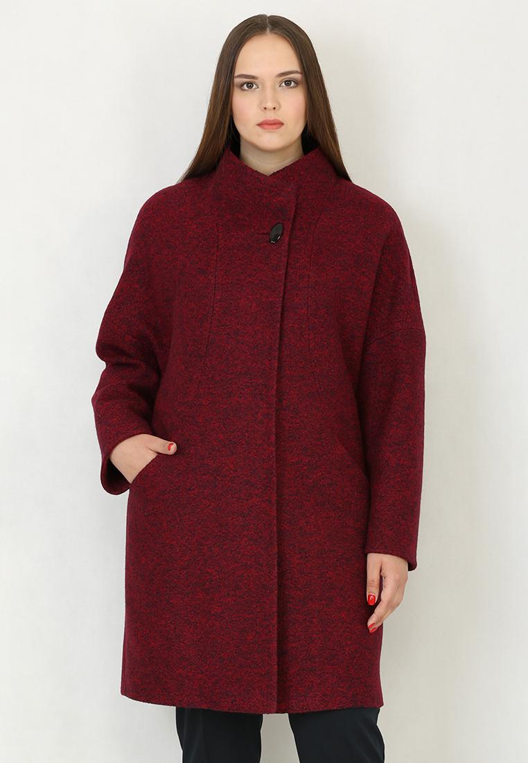 Женские пальто Trifo 7417-Бордово-синий-44/170