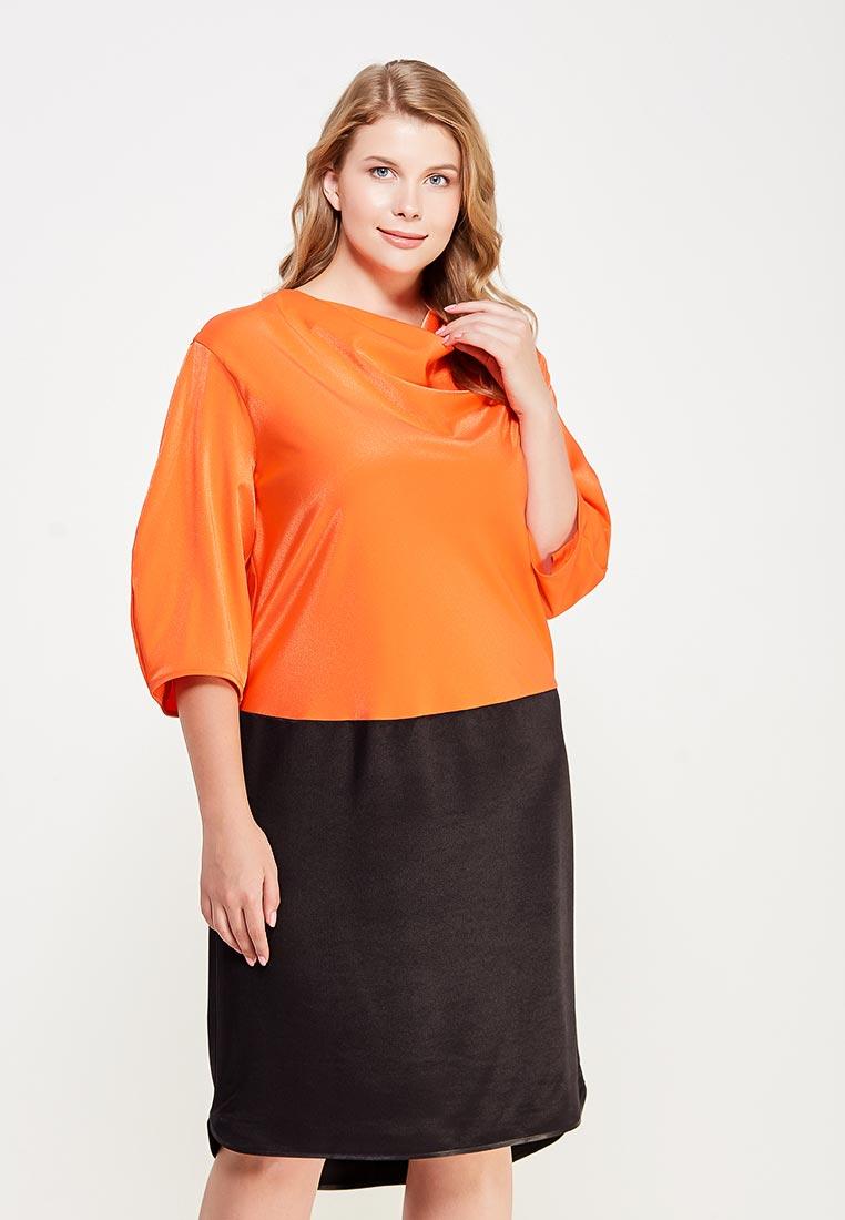 Платье-мини Larro 1066-черн.оранж-1