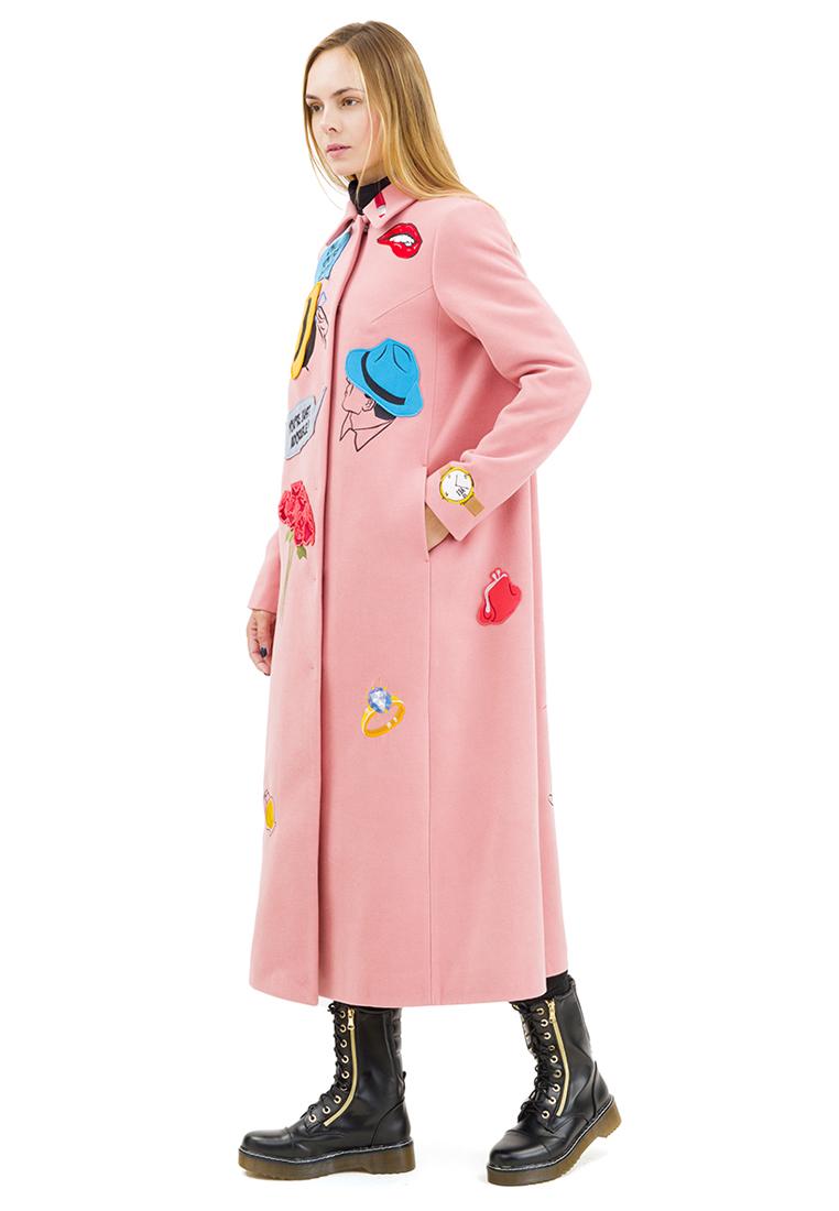 Женские пальто Pavel Yerokin SKS-80-розовый-40: изображение 4