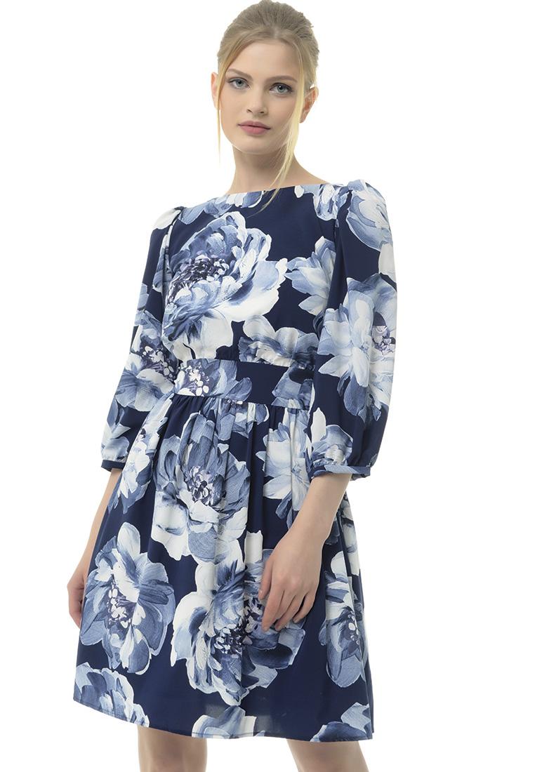 Вечернее / коктейльное платье Arefeva Платье L9114 синий L: изображение 1