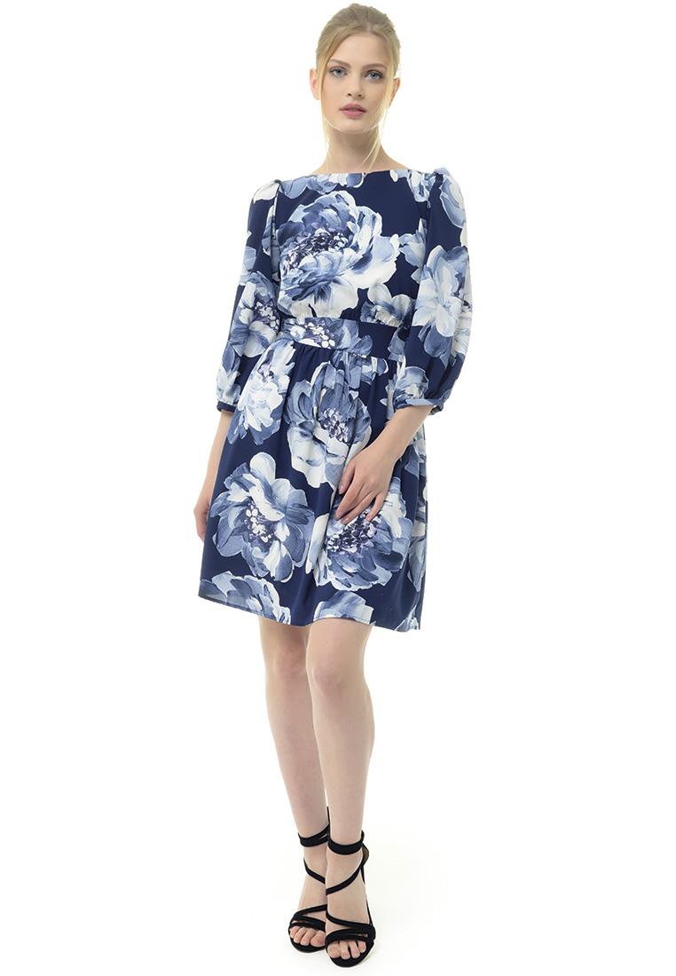 Вечернее / коктейльное платье Arefeva Платье L9114 синий L: изображение 2