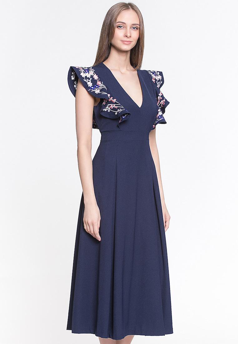 Вечернее / коктейльное платье Cavo CVDRLP009-drblue-S