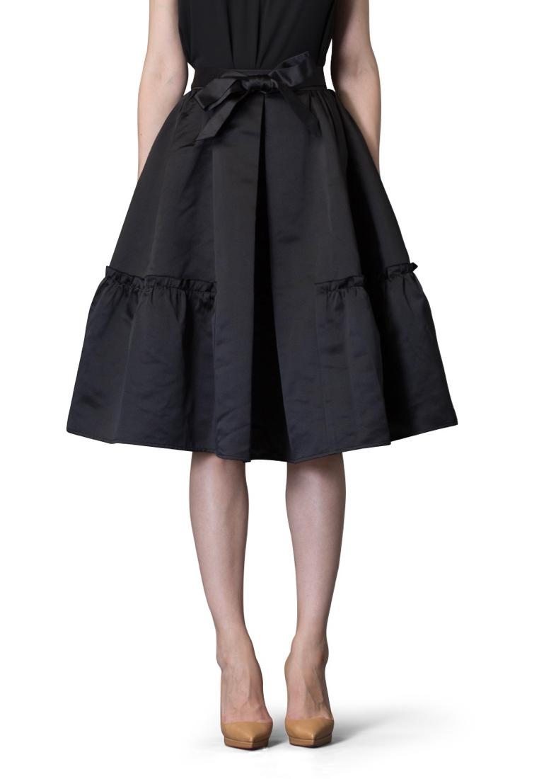Широкая юбка Cavo CVSKLP003-black-S