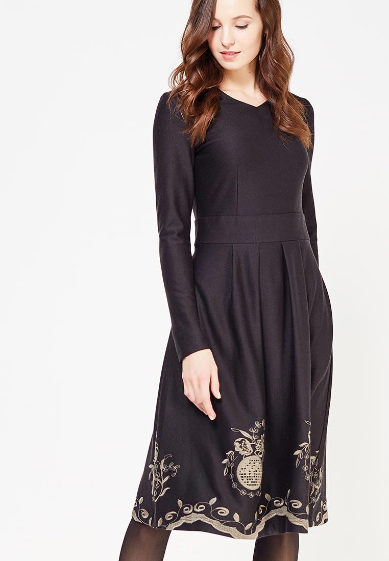 Вязаное платье Demurya Collection DEM19-PLAPLFLOR01/black-42