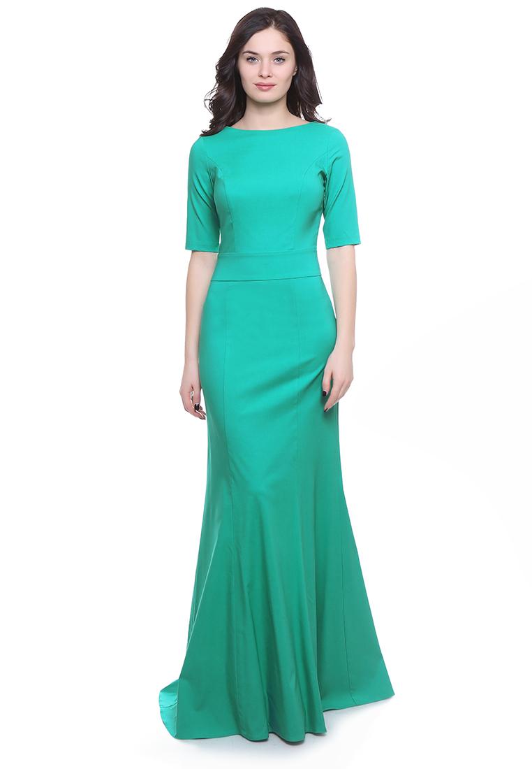 Платье-макси Grey Cat GPl00093V(petunia) светло-зеленый 42