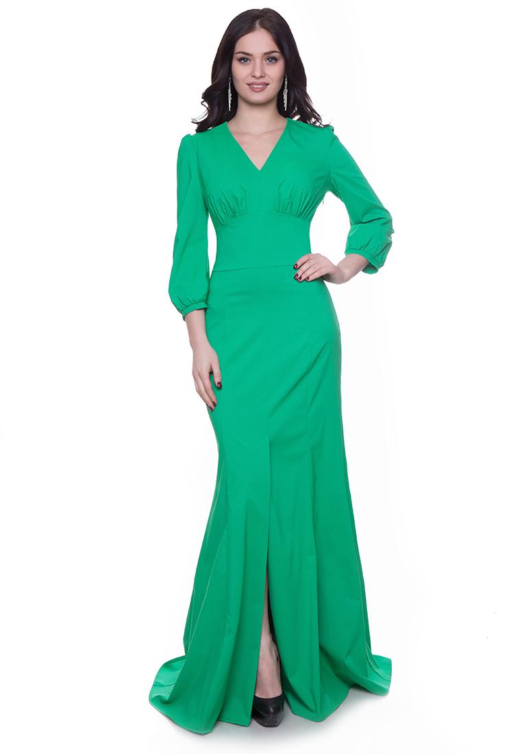 Платье-макси Grey Cat GPl00145V(viky) светло-зеленый 42