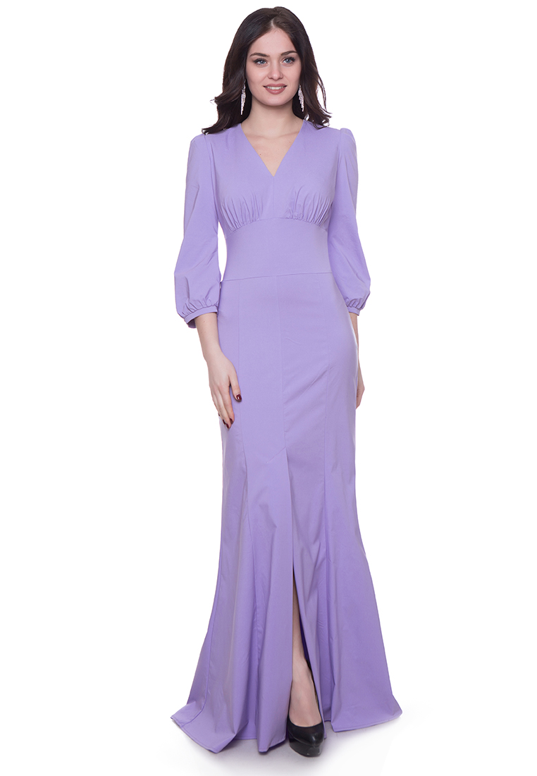 Платье-макси Grey Cat GPl00145V(viky) сиреневый 42