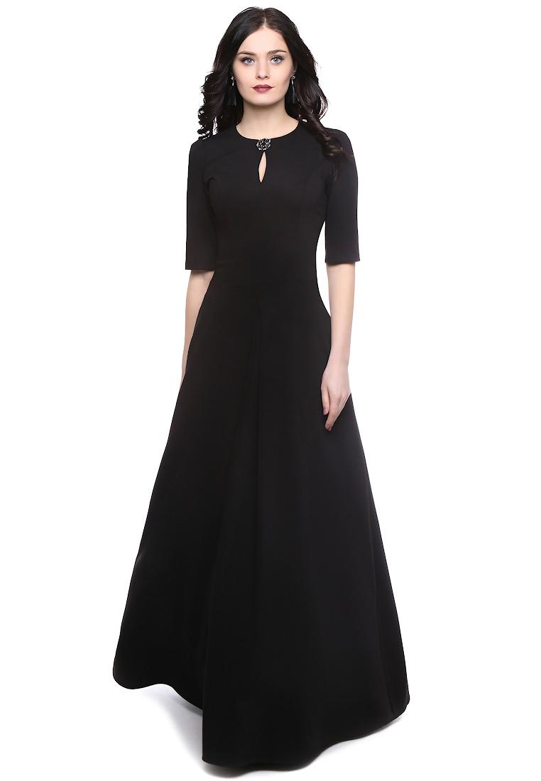 Платье-макси Grey Cat GPl00109V(tilda) черный 42