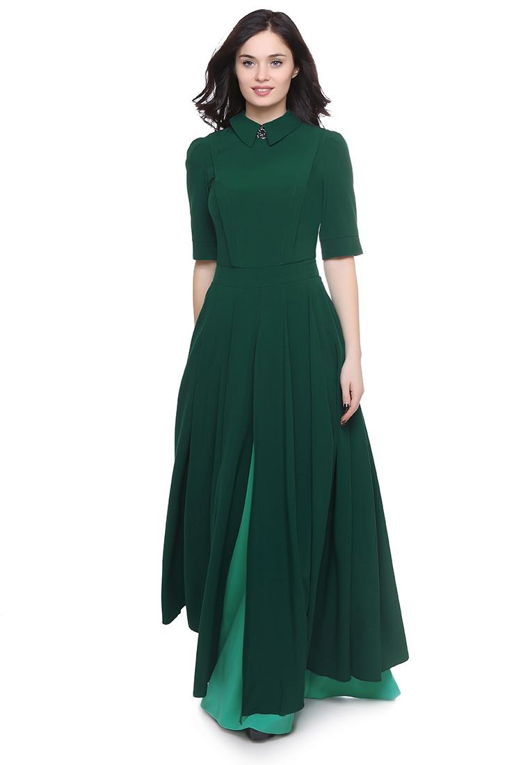 Вечернее / коктейльное платье Grey Cat GPl00091V(yarmina) зеленый 42