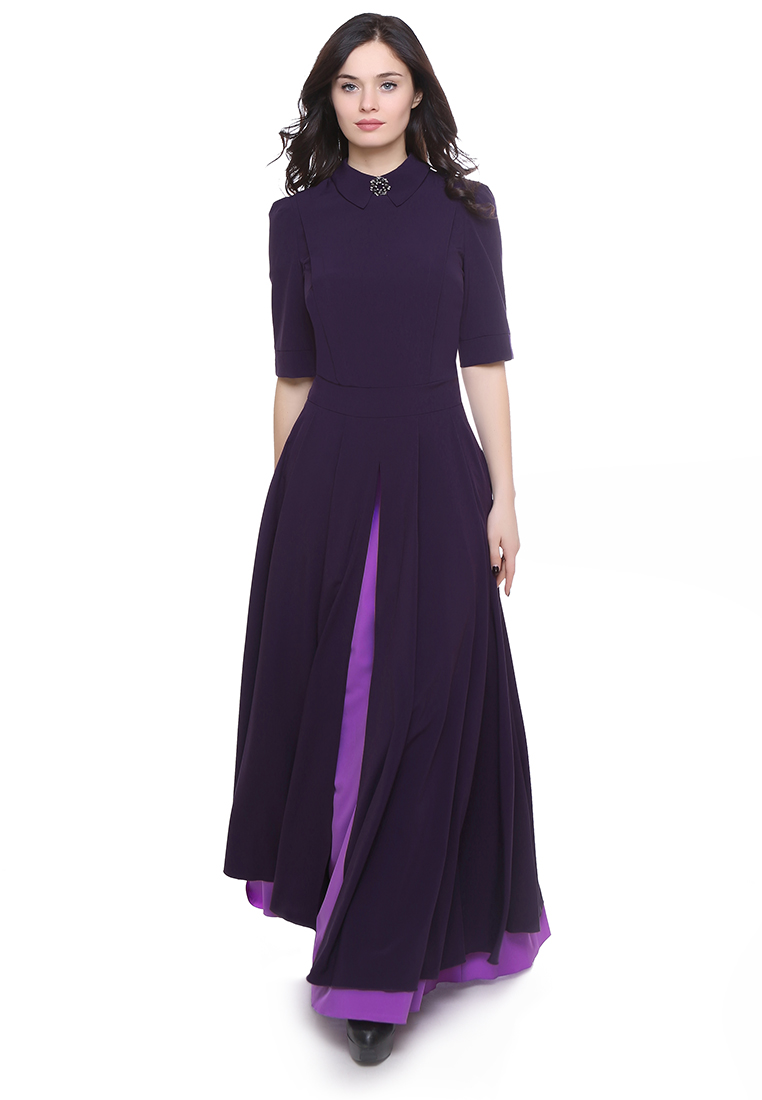 Вечернее / коктейльное платье Grey Cat GPl00091V(yarmina) фиолетово-сиреневый 42