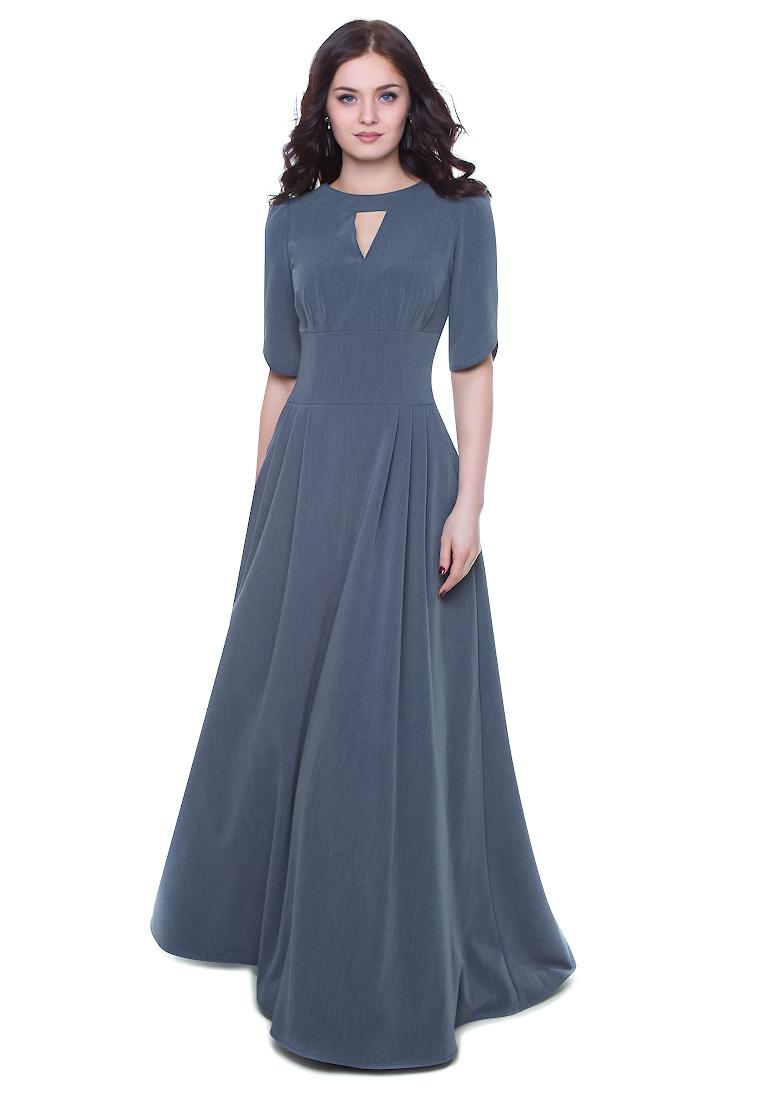 Вечернее / коктейльное платье Grey Cat GPl00142V(mihael) джинсовый 42
