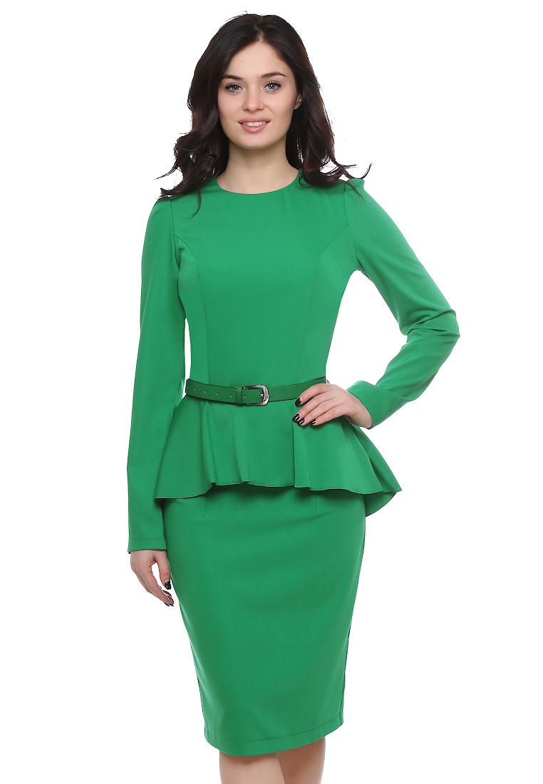 Платье-миди Grey Cat GPl00098V(beysy) светло-зеленый 42