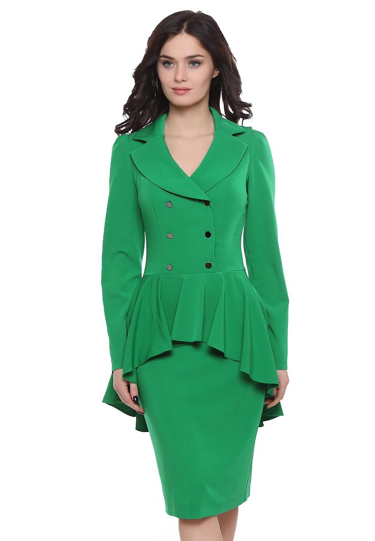 Вечернее / коктейльное платье Grey Cat GPl00094V(nessy) светло-зеленый 42
