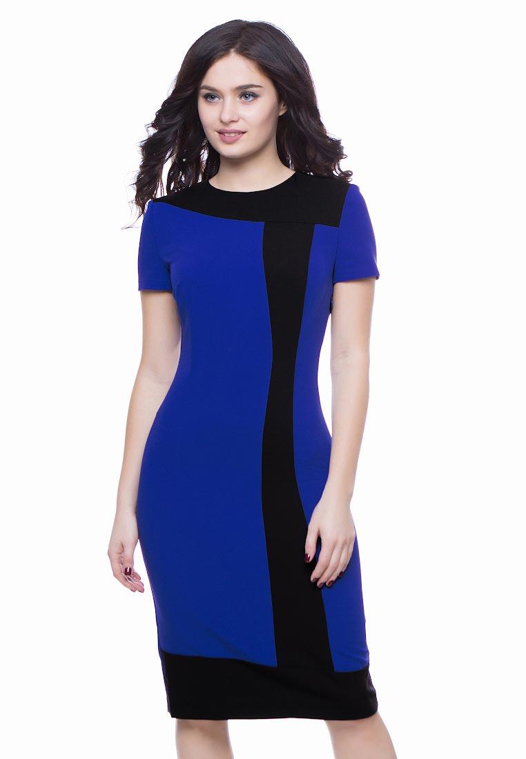 Вечернее / коктейльное платье Grey Cat GPl00034V(tuluza) сине-черный 42