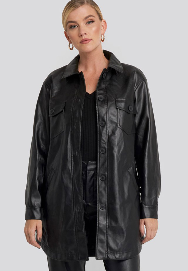 Кожаная куртка NA-KD 1018-003129-0002