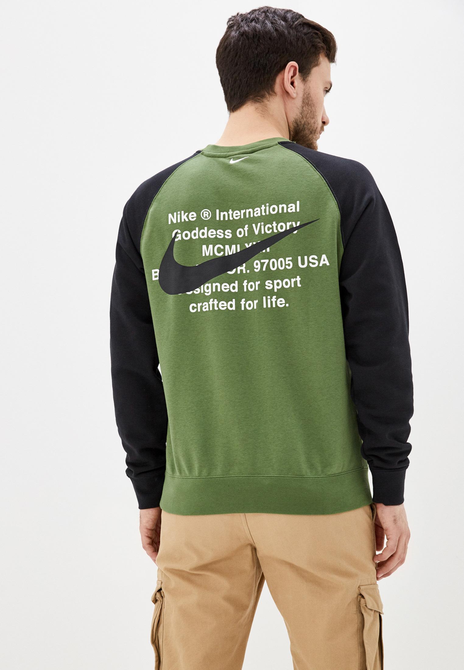 зеленый свитшот найк
