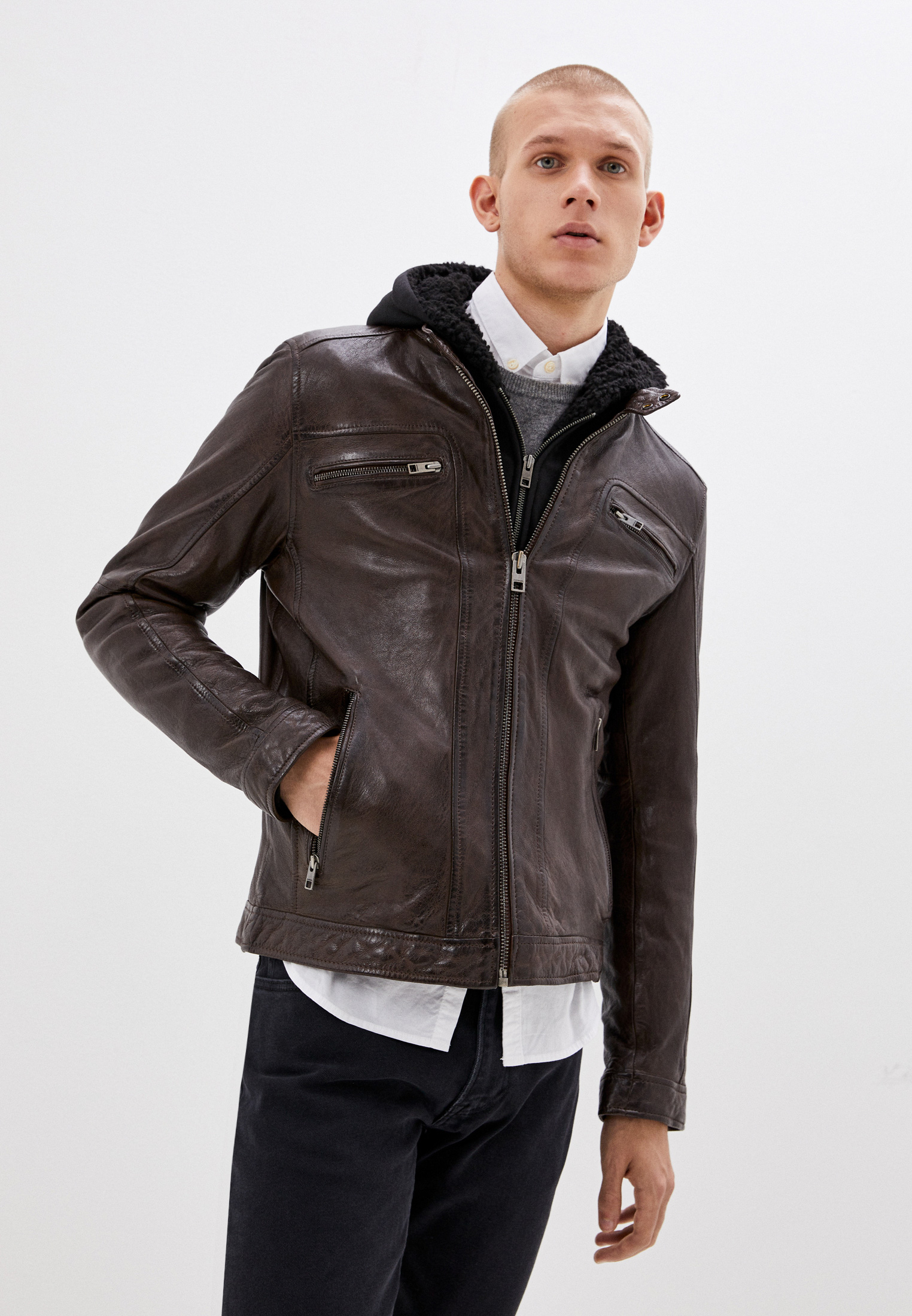 Кожаная куртка Oakwood (Оаквуд) 63036